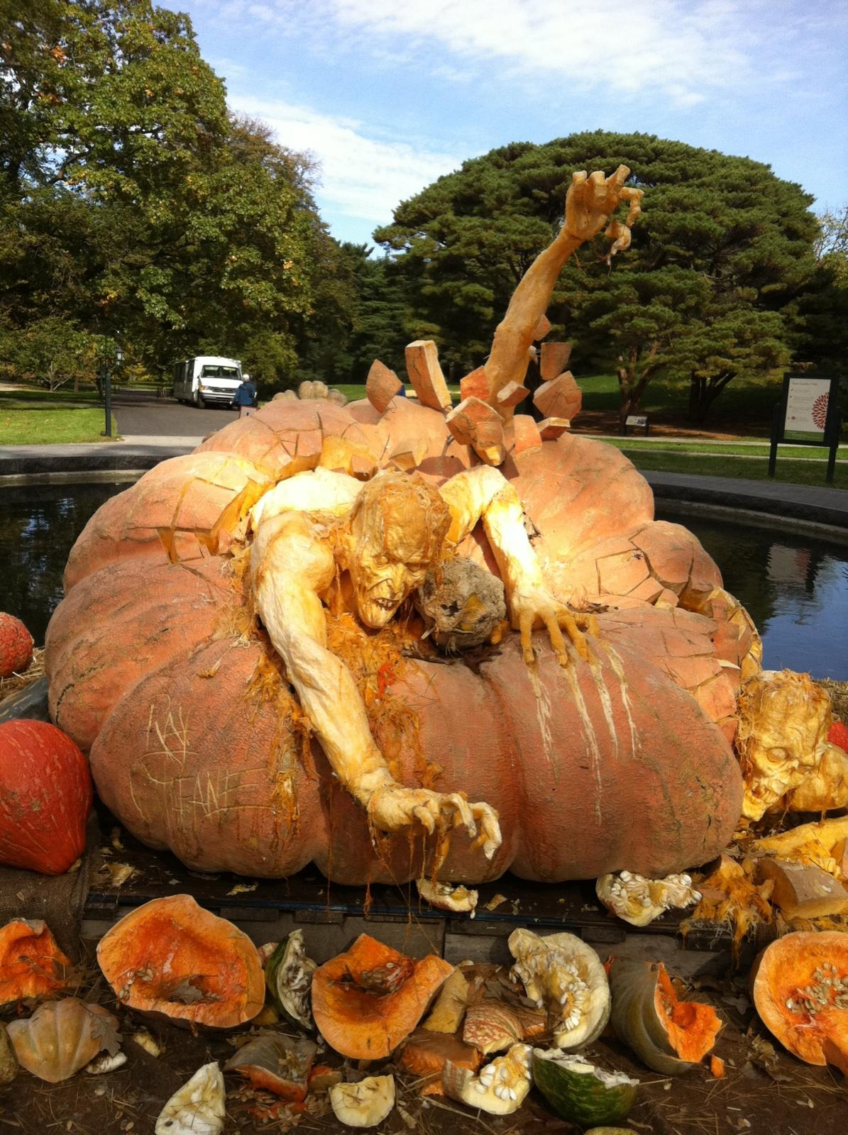 World S Largest Pumpkin Becomes A Zombie