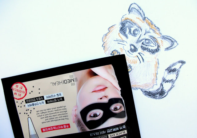 Mediheal - Black Eye Anti-wrinkle Mask. A kawaii racoon mask review by Valentina Chirico