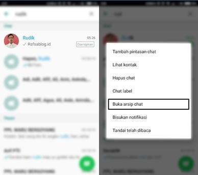 Cara Menyembunyikan Chat di Whatsapp Tanpa Menghapusnya