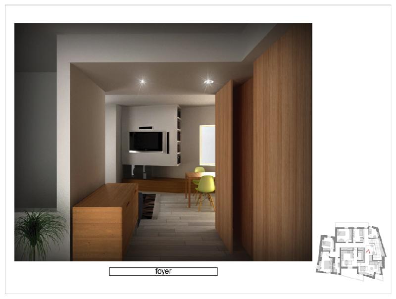 Tre progetti per la ristrutturazione di una villa a due piani