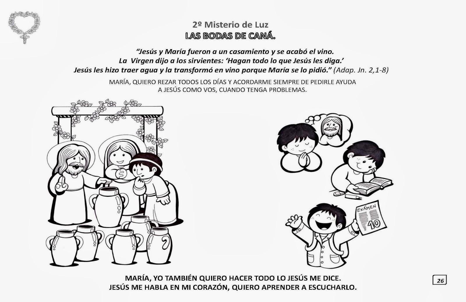 Niño Leyendo Un Libro Colouring Pages Page 2: PARA COLOREAR: Los Misterios Del Santo Rosario Para Iluminar