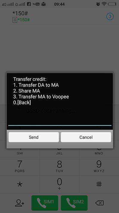 Share MA untuk transfer kredit xox