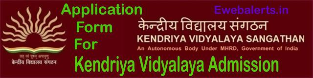 Kendriya Vidyalaya Admission Form Process Online Application Pdf