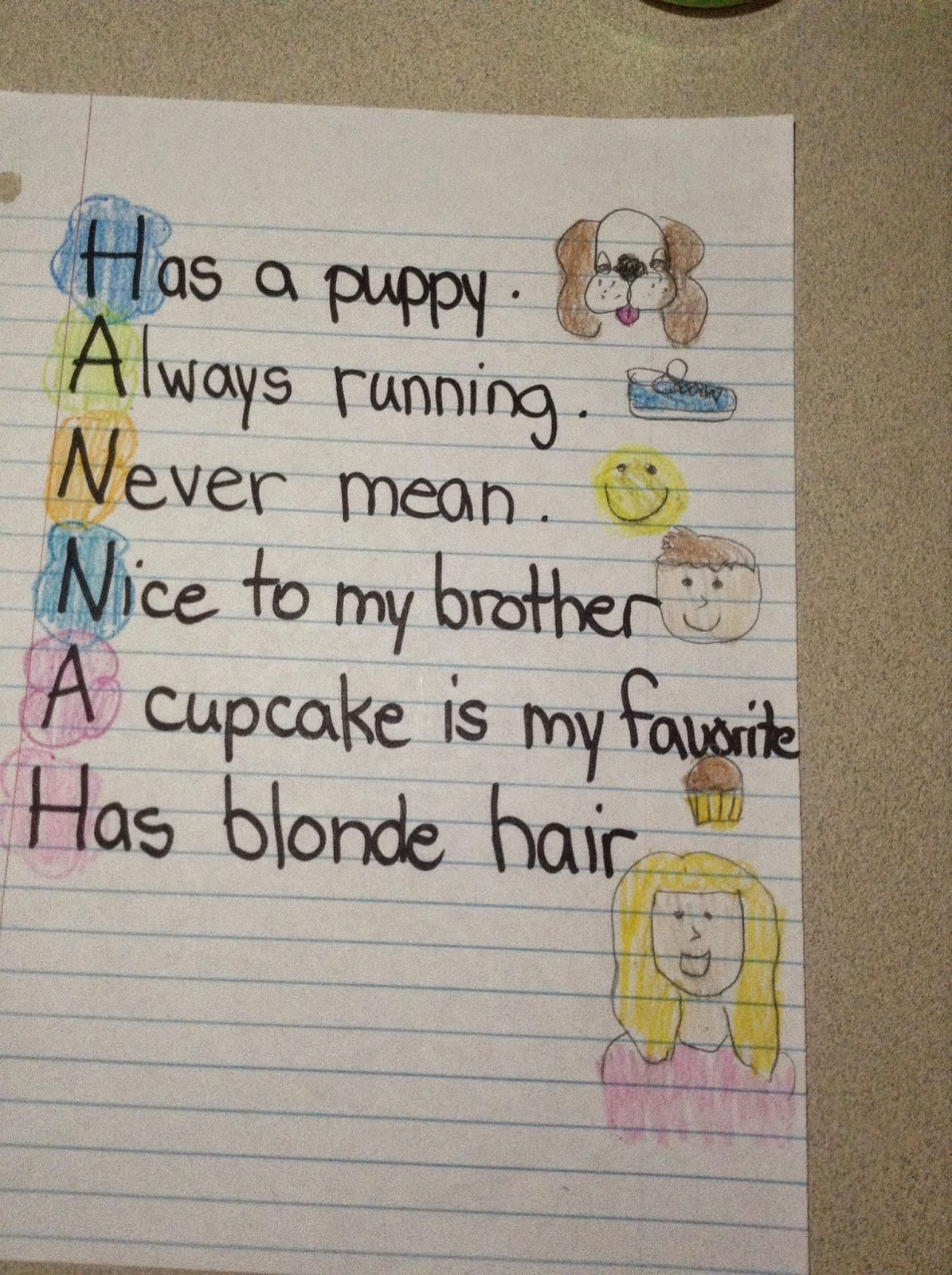 Acrostic Poem Examples For Second Grade