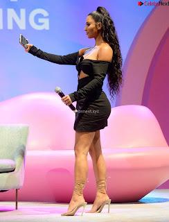 Kim Kardashian Huge  in Black Deep Neck Top Must see August 2018 005