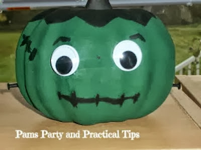 How to make a Frankenpumpkin #pumpkin