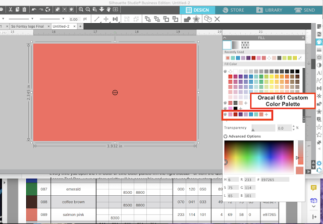 silhouette studio, silhouette design studio, silhouette studio tutorials, custom color palettes, custom colors