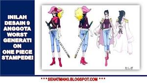 Inilah Desain 9 Anggota Worst Generation One Piece Stampede!