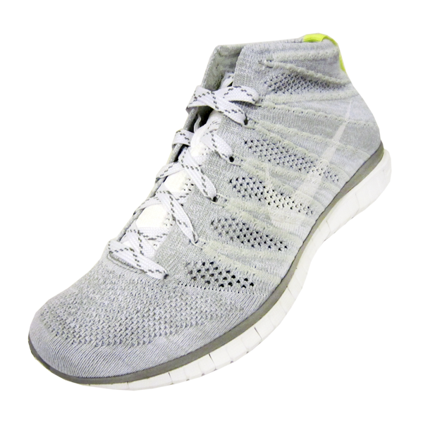 promo code 1c4c1 d84a8 Nike Women s Free Flyknit Chukka. Wolf Grey, White, Pure Platinum, Volt.  639699-001