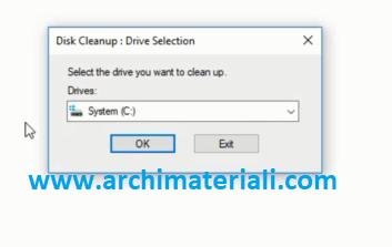 Pilih System C: atau partisi sistem sobat Archi