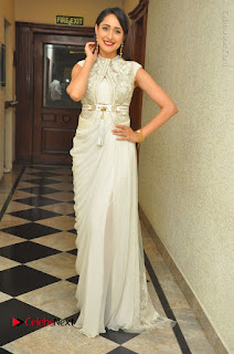 Actress Pragya Jaiswal Stills in Beautiful White Dress at turodu Audio Launch  0061.JPG
