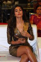 Pooja Hegde looks glamarous in deep neck sleevless short tight golden gown at Duvvada Jagannadham thank you meet function 158.JPG