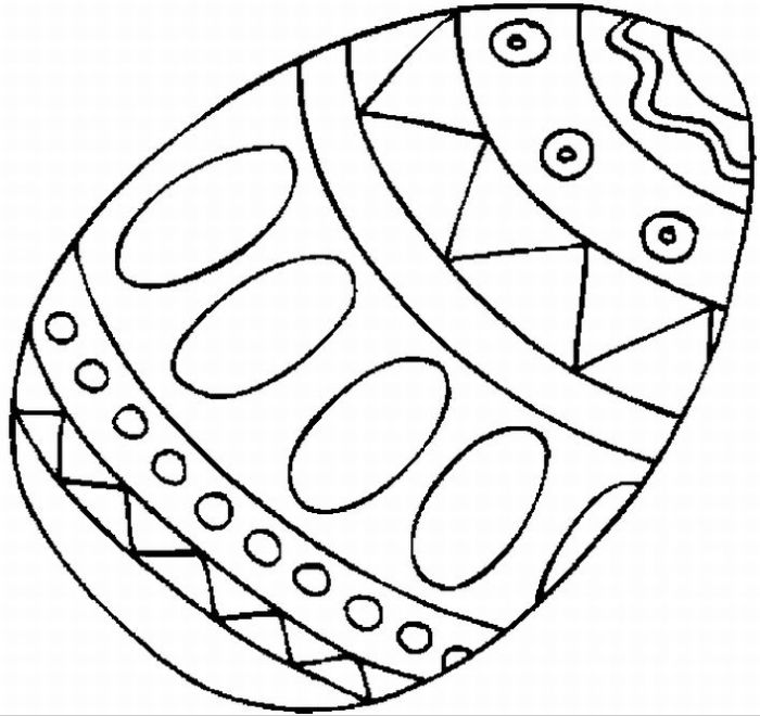 easter egg coloring pages preschool - photo#1