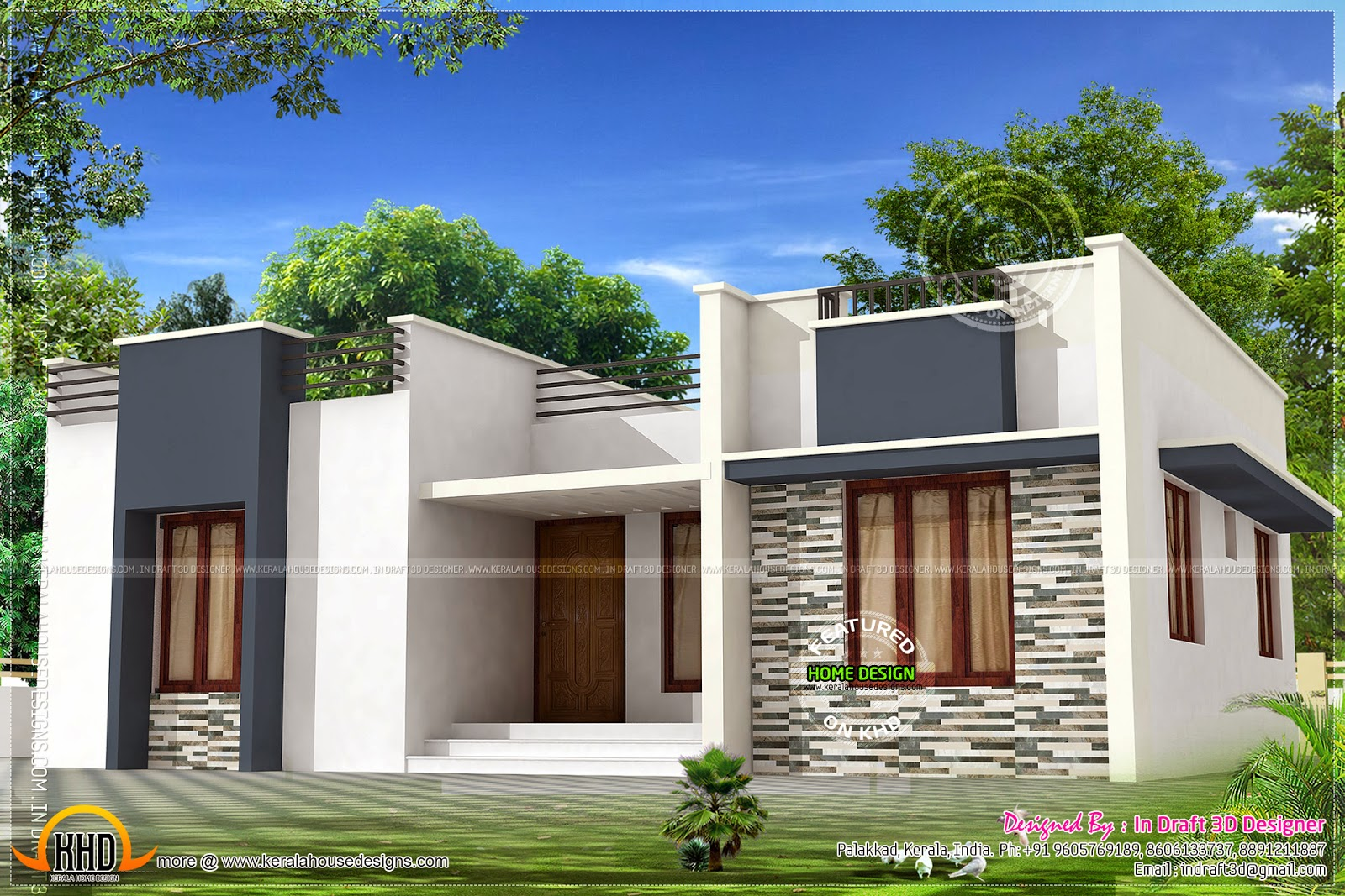 3 Bed Room Budget Home Design 971 Sq Ft Kerala Home Design And