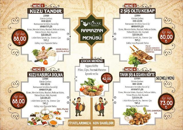 konak restaurant talas kayseri iftar menüleri ramazan 2019 kayseri iftar mekanları