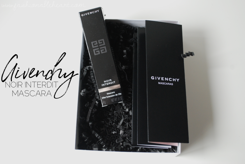 bbloggers, bbloggersca, canadian beauty bloggers, beauty blog, product review, mascara, sephora, sephora canada, givenchy beauty, noir interdit, deep black, wand, 90 degree angle, volume, length, scent, bottle, tube, exclusive
