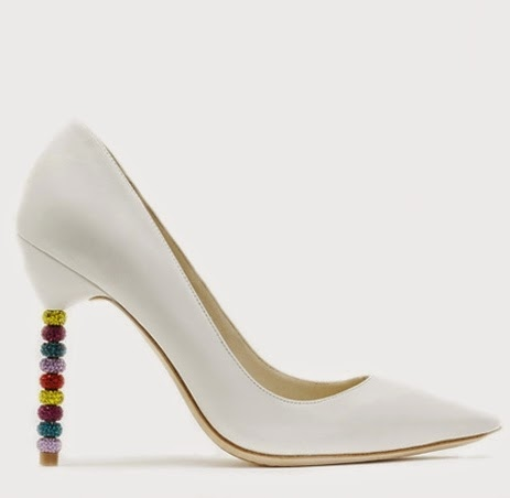 White Sophia Webster Pumps from the GRAMMYS