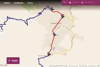 Revezamento da Tocha Olímpica em Teresópolis com divulgação do percurso,nomes dos condutores e atrações culturais