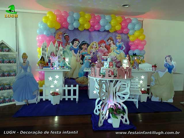 Decoração de mesa de aniversário Princesas Disney - Provençal Simples