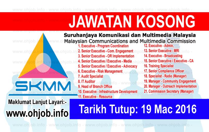 Jawatan Kerja Kosong Suruhanjaya Komunikasi Dan Multimedia Malaysia (SKMM) logo www.ohjob.info mac 2016