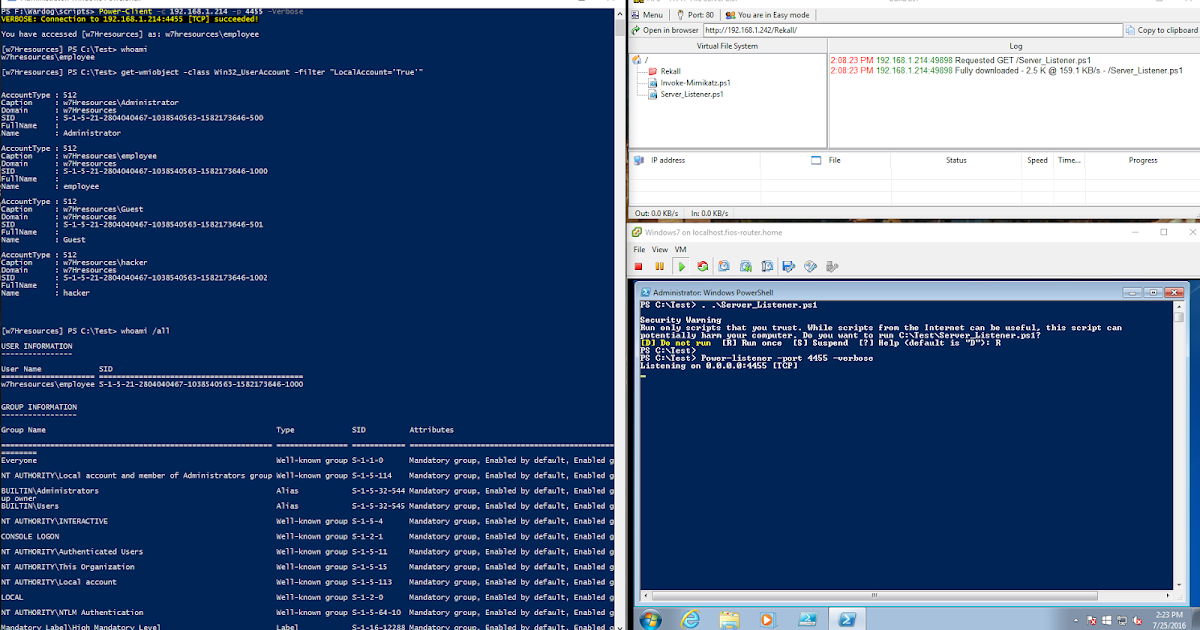 Cyber Wardog Lab: PowerShell: TCP Client-Server with  NET