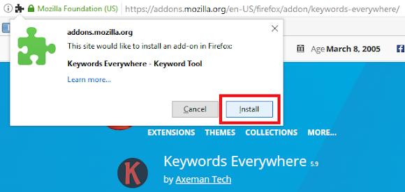 konfirmasi pemasangan plugin pada browser anda