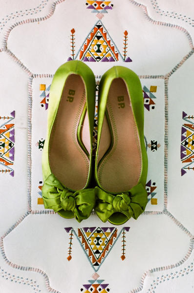 Another Great Idea Is To Have All The Bridesmaids In Green Shoes While Bride Wears Traditional White