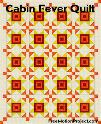 Cabin Fever quilt block tutorial with Leah Day