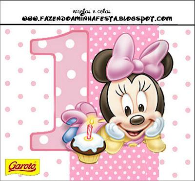 Minnie Baby Kit Completo Com Molduras Para Convites Rotulos