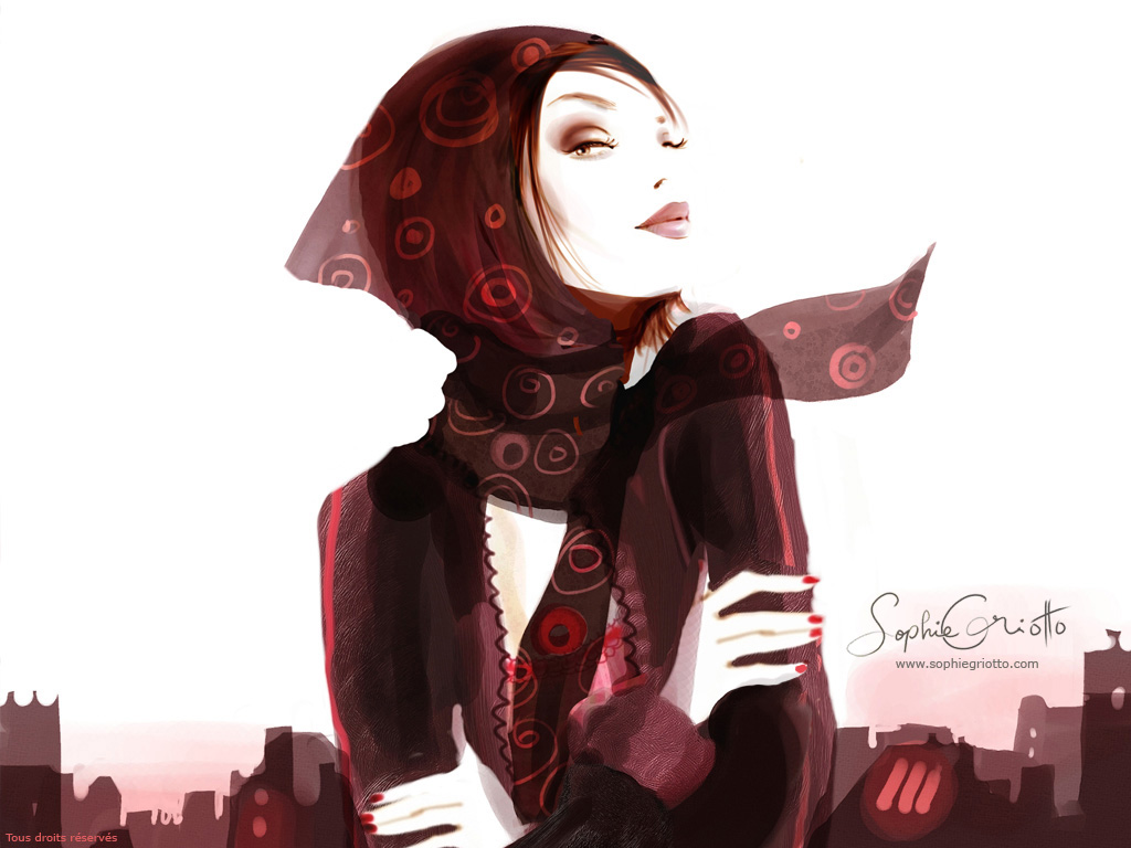 Sophie Griotto 1975 | French fashion illustrator