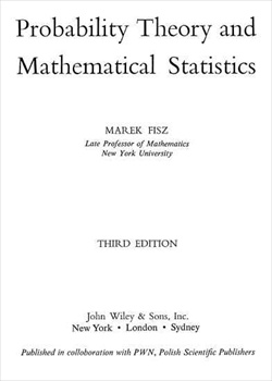 Probability theory and mathematical statistics by marek fisz
