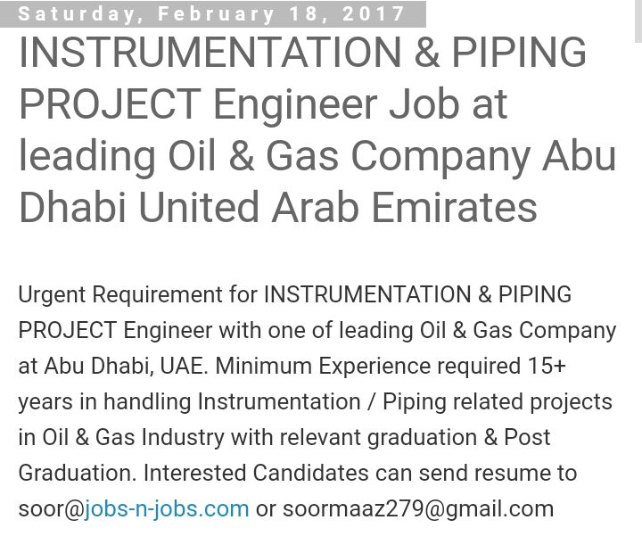 Piping engineer jobs