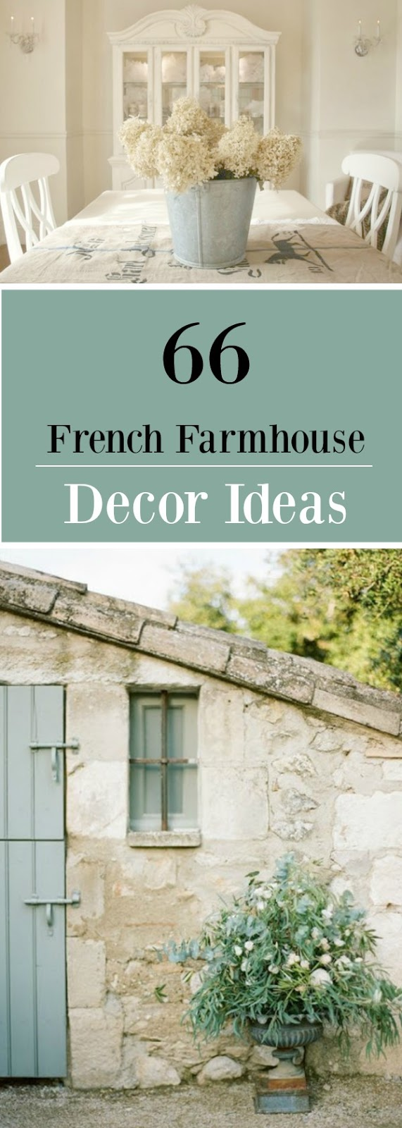 French Farmhouse Decor Style Decorating Ideas! #frenchfarmhouse #frenchcountry #decorinspiration