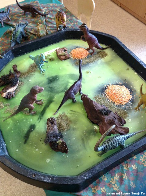 Learning And Exploring Through Play Dinosaur Sensory