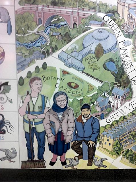 Glasgow - Hillhead mural - Alasdair Gray