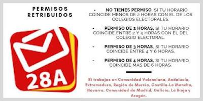 permisos elecciones 2019