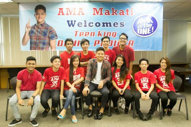 Teen King Daniel Padilla visits AMA College Makati