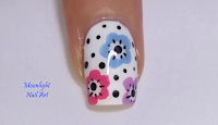 Floral - Nail Art Design - Blu - Pink - Lilac - Flowers - Tutorial - Video Tutorial - MoonlightNailArt