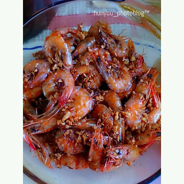 sweet-spicy-garlicky shrimp