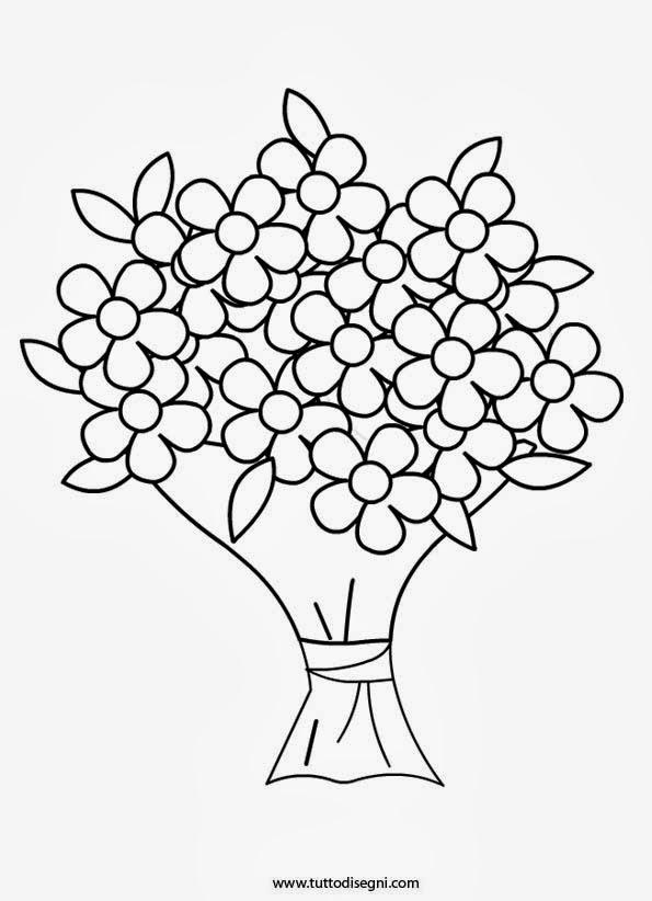 Disegni di fiori da colorare e stampare for Disegni da stampare e colorare fiori