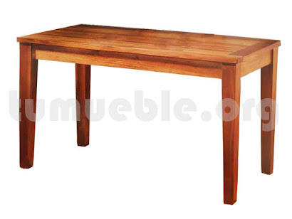 mesa comedor rectangular hecho en teca 4168