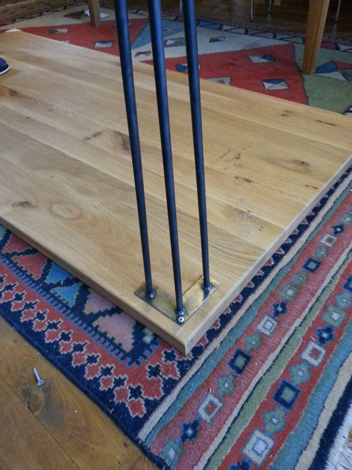 Uncategorized How To Attach Hairpin Legs tom white march 2013 it was much easier than looks as all i had to do attach some hairpin legs a worktop if you havent seen before heres closeup