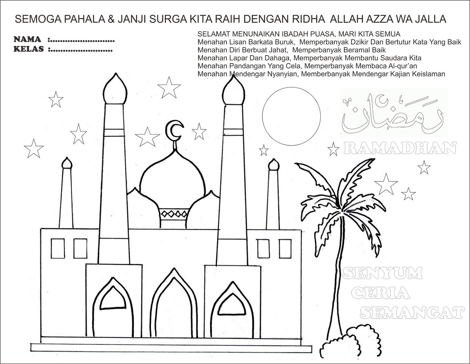 Sekolah Sabtu Minggu Ceria Mewarnai Bulan Ramadhan Asik Http Gambarmewarnai