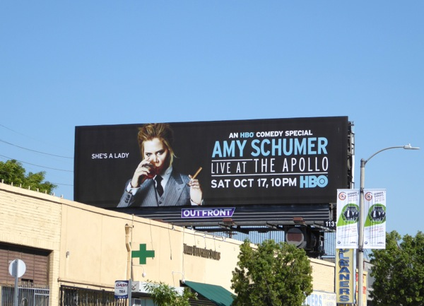 Amy Schumer Live at the Apollo HBO billboard