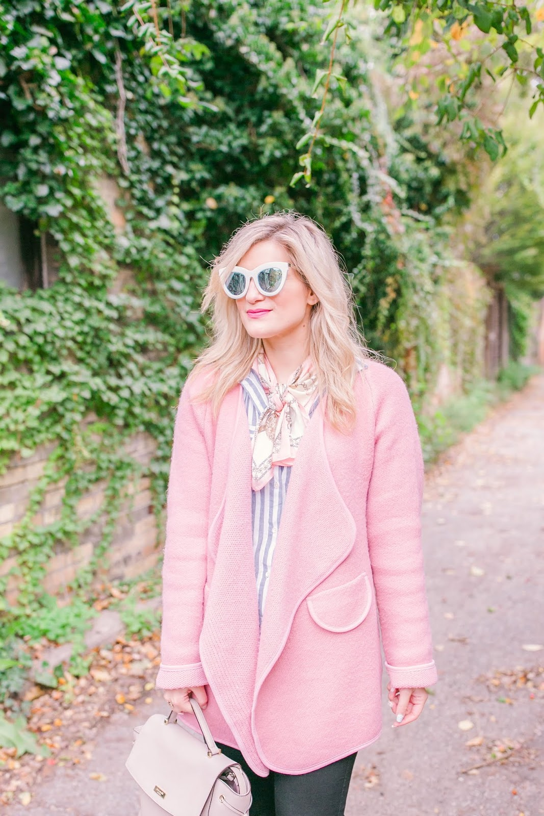 Bijuleni - How to Wear Your Cardigan in a Stylish Way - Chicwish Pink Cardigan