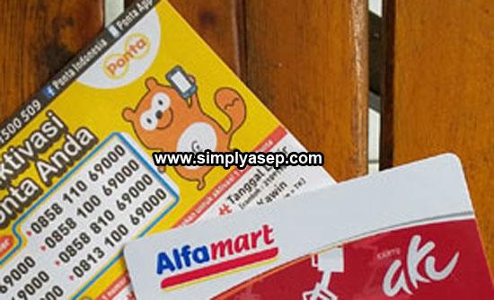 AKTIVASI PONTA :  Setiap kartu Pont Alfamart harus diaktifkan terlebih dahulu dengan satu nomor Handphone baru kemudian bisa dipergunakan.  Foto Asep Haryono