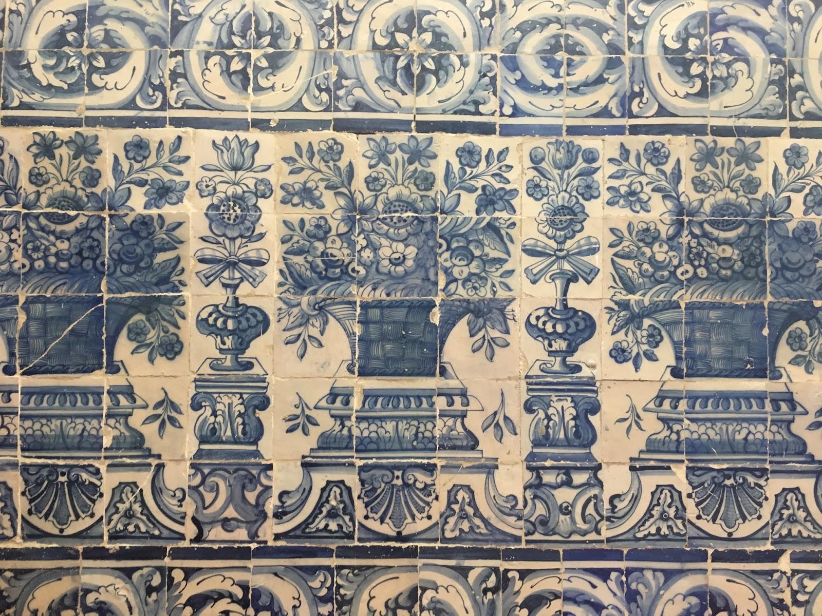 oeiras, Portugal, Lisbon, Palácie Marques de Pombal, azulejos
