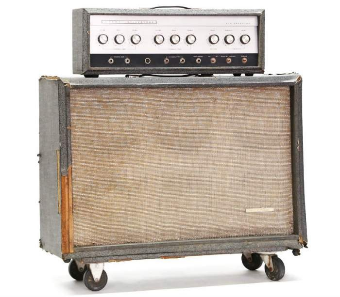 as guitarists yearned for louder amplifiers, sears produced the 1485  amplifier  the circuitry was similar to the 1484, except this amp had 4  6l6gc tubes and