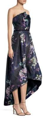 Parker Black Estelle Strapless High-Low Ball Gown
