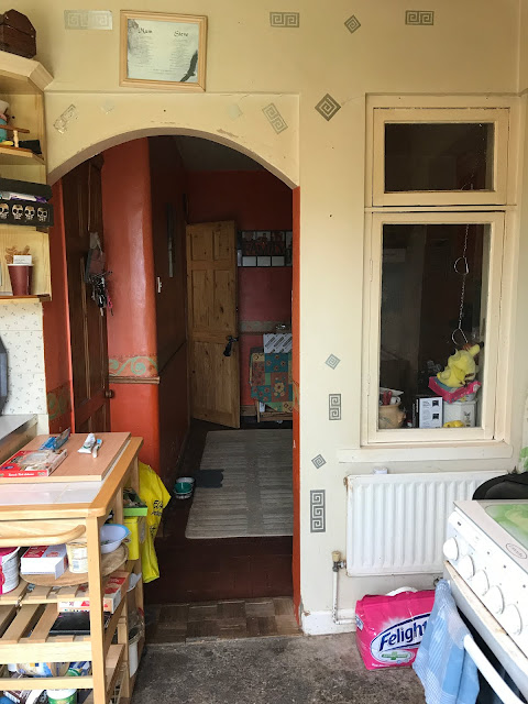 kitchen with old arch and original window